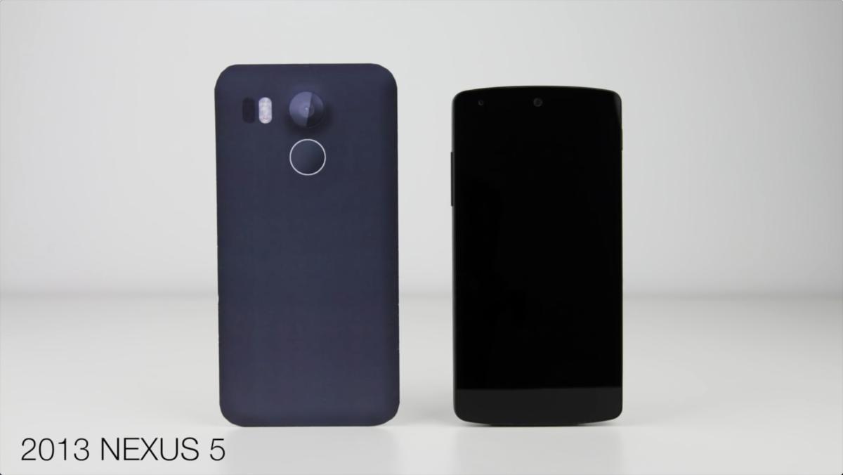 视频都出了 谷歌Nexus 5(2015)模型机与各大旗舰外观对比的照片 - 2