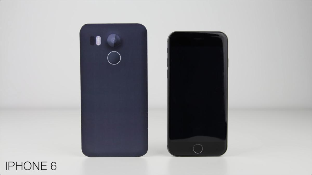 视频都出了 谷歌Nexus 5(2015)模型机与各大旗舰外观对比的照片 - 9