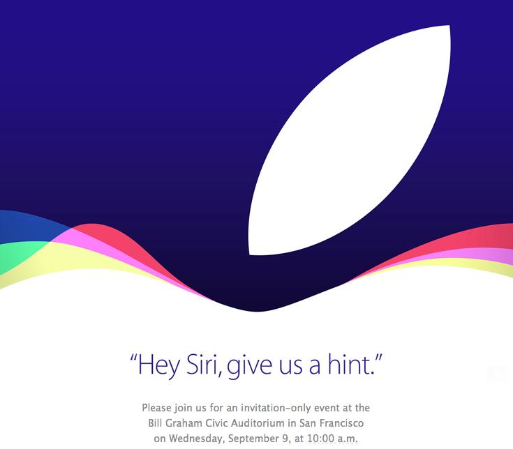 苹果确认9月9日在旧金山举办新品发布会的照片