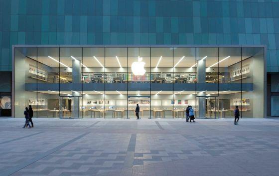苹果在迪拜开了一家店_顾客可远眺全球最高建筑