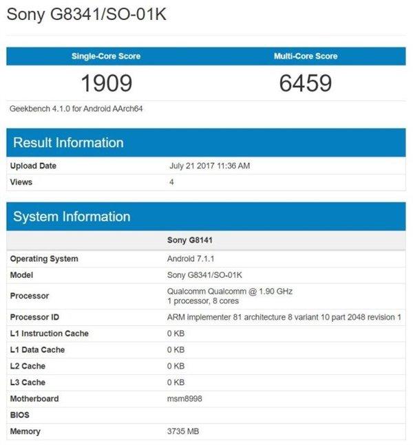 澳门新葡京索尼小屏旗舰现身跑分库:骁龙835+安卓8.0