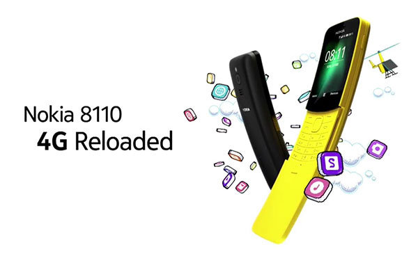 手机届的妖娆艳货!诺基亚8110 4G版发布:滑盖智能机 - 热点资讯 好物资讯 第1张