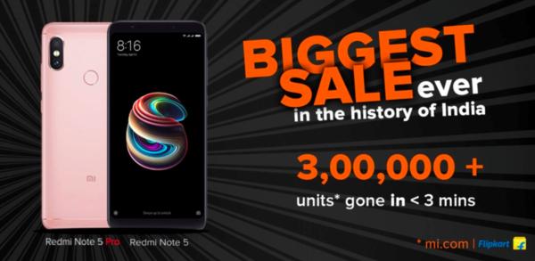 在印度也火了!红米Note 5系列在印度3分钟卖出30万台 - 热点资讯 好物资讯 第1张