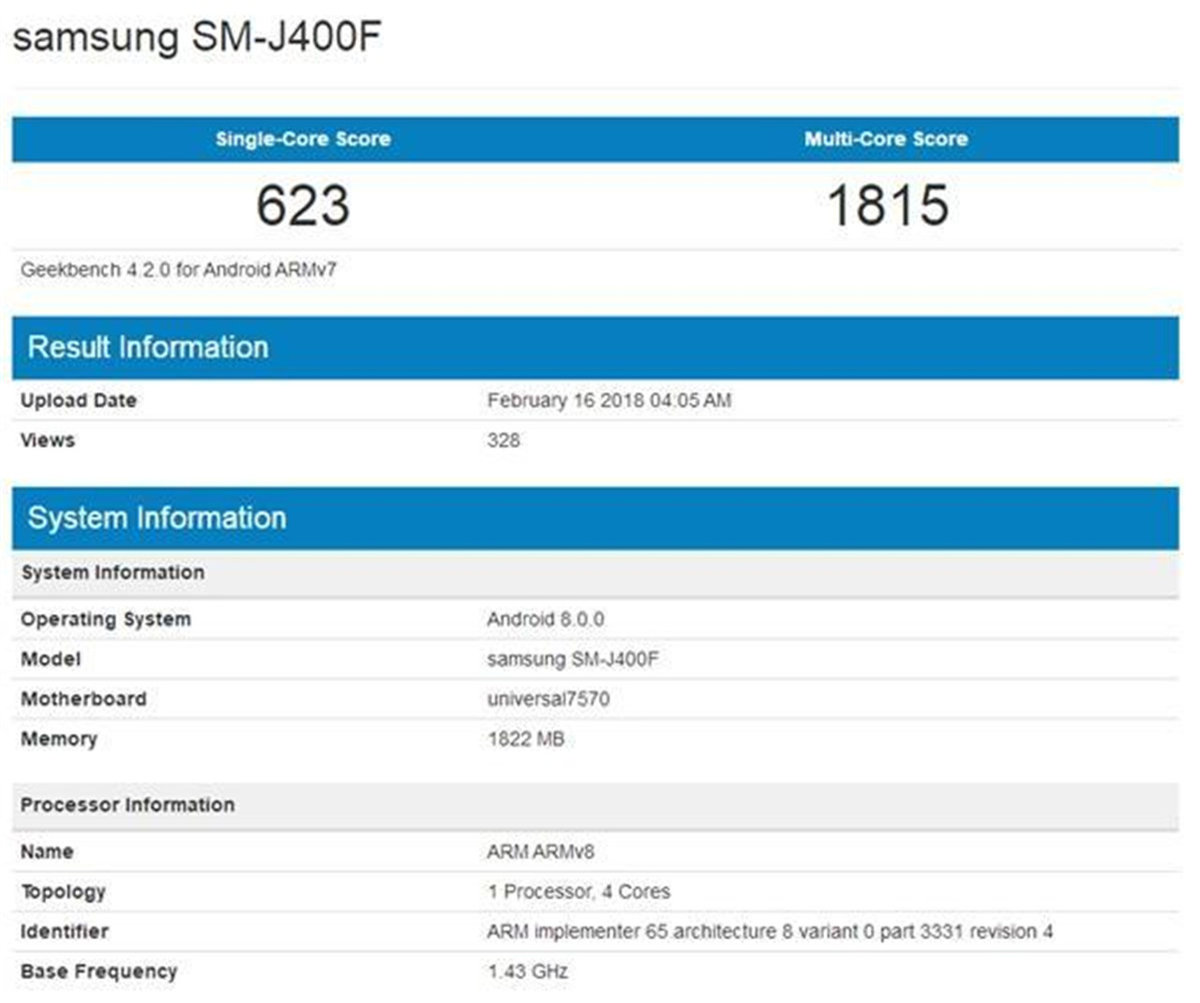 Galaxy J 系列中端新机现身GeekBench 包括J3 J4 J6 J8 - 热点资讯 首页 第5张
