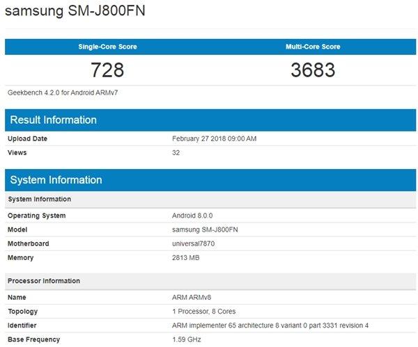 Galaxy J 系列中端新机现身GeekBench 包括J3 J4 J6 J8 - 热点资讯 首页 第2张