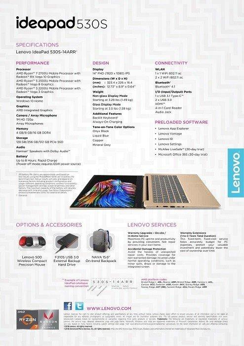 联想IdeaPad 530S曝光:搭载AMD Ryzen以及Vega GPU - 热点资讯 好物资讯 第1张
