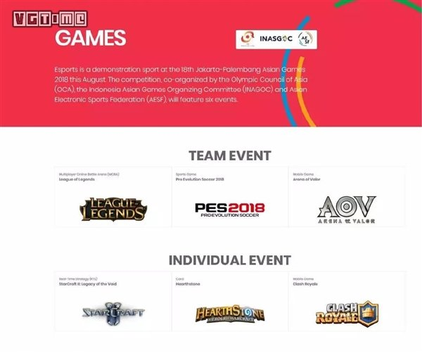 走进亚运会:2018 亚运会电竞表演项目公布 - 热点资讯 好物资讯 第2张