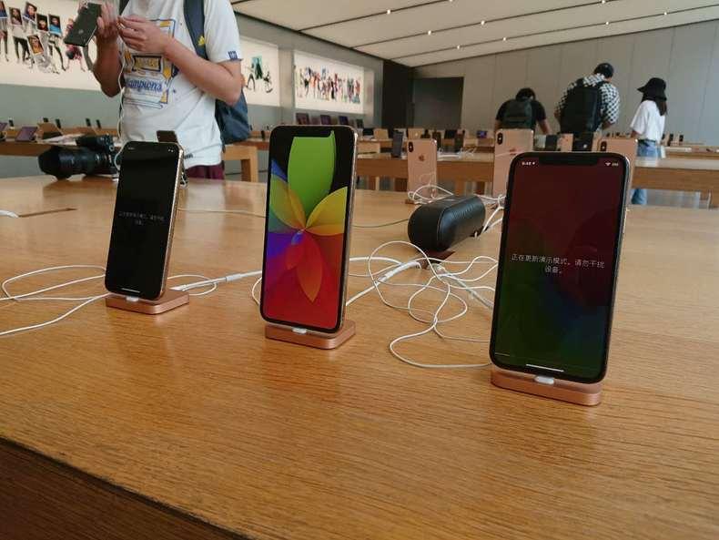 iPhone XS/XS Max发售首日Apple Store现场:稍显冷清
