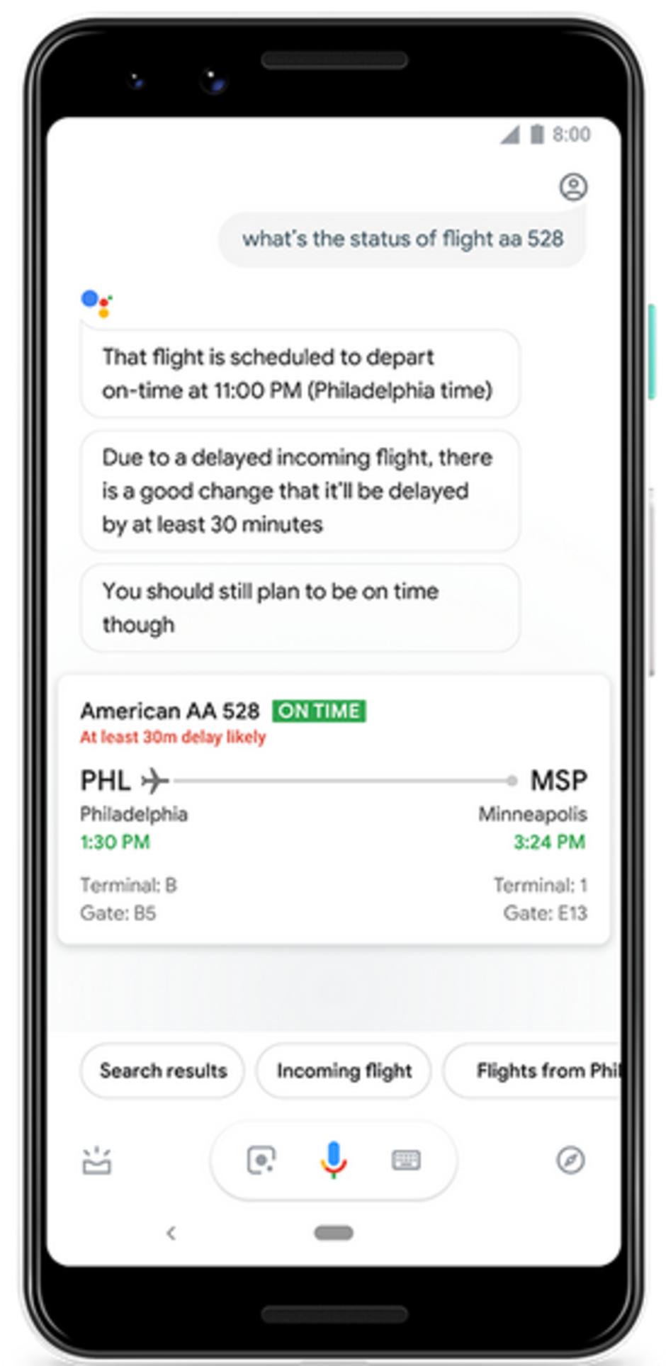 建议跟进!谷歌语音助手可预测航班是否延误 - 热点资讯