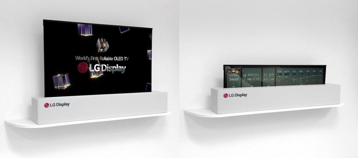 LG将在明年推出可滚动电视:不看的时候可以收起来 - 热点资讯