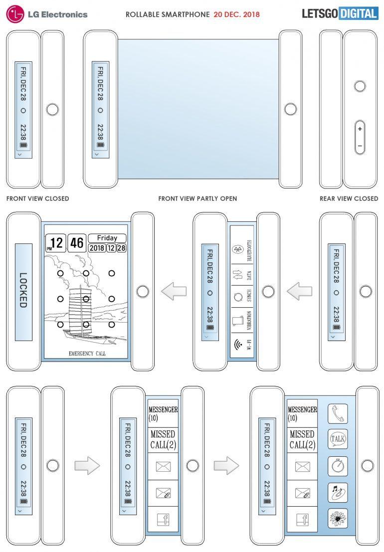 比折叠更炫酷,LG 新专利可让手机像画一样卷起来 - 热点资讯