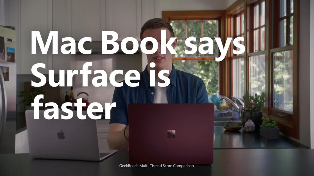 微软广告脑洞大开,让叫「Mac」的人说 Surface 更好用 - 热点资讯