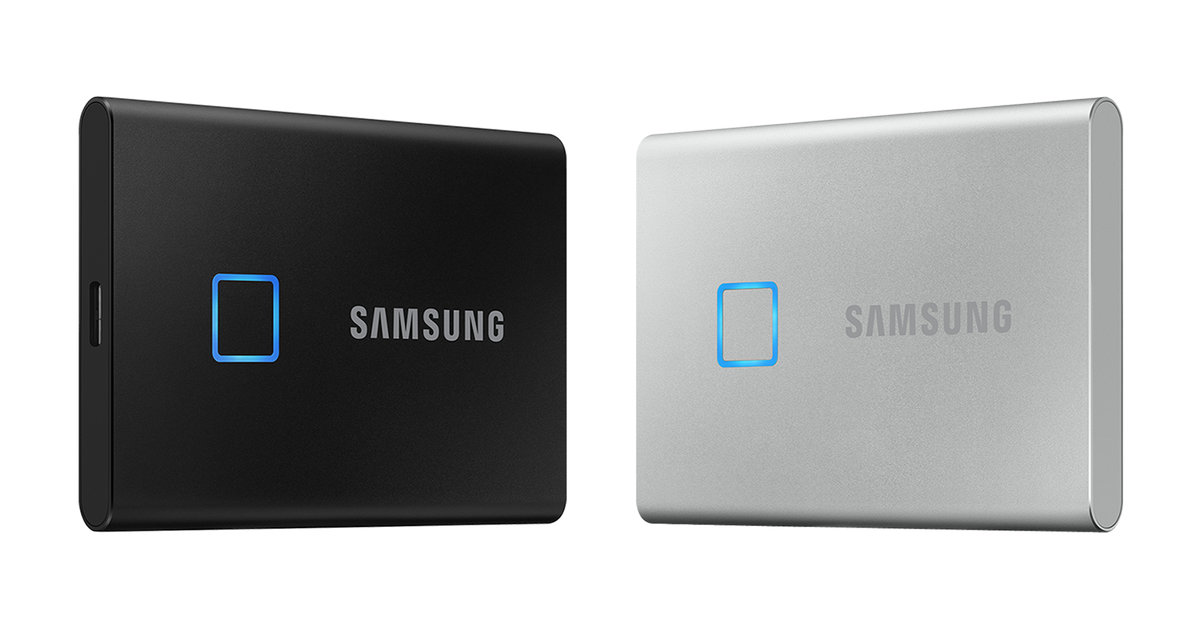 三星推出T7 Touch移动SSD:支持指纹识别,1000+MB/s读写 - 热点资讯