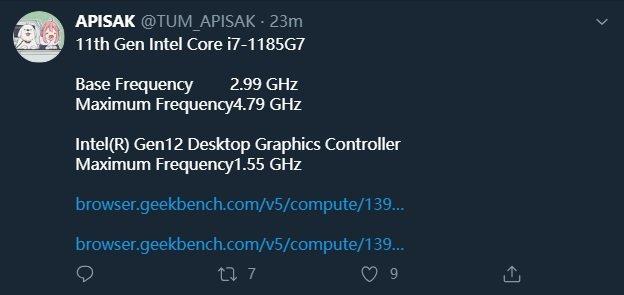 核显性能超越 GTX 1050Ti,英特尔 11 代酷睿跑分曝光 - 热点资讯 首页 第1张