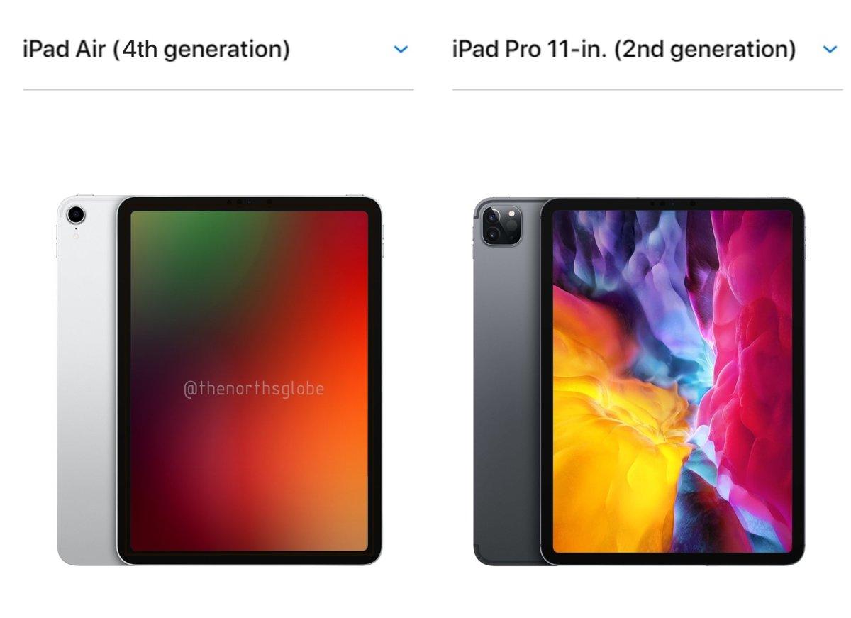 iPad Air 4 渲染图曝光,与 iPad Pro 相差无几 - 热点资讯 首页 第1张