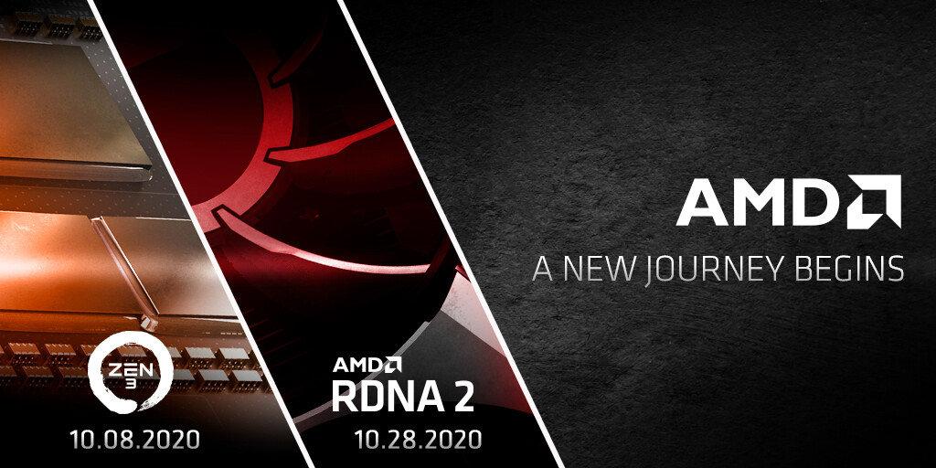 AMD 官方预告:10 月发布 Zen 3 处理器和 RDNA 2 显卡 - 热点资讯 专题图文 第1张