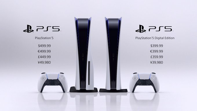 PS5 发布:数字版 399.99 美元,光驱版 499.99 美元 - 热点资讯 专题图文 第1张
