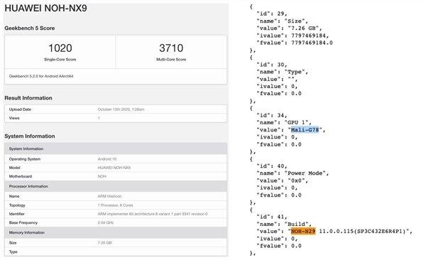 麒麟 9000 现身 GeekBench:3.13GHz 主频带来优秀性能 - 热点资讯 首页 第2张