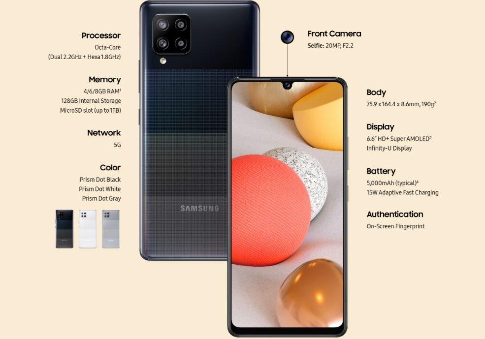 三星 Galaxy A42 5G 发布:采用高通骁龙 750G - 热点资讯 首页 第2张