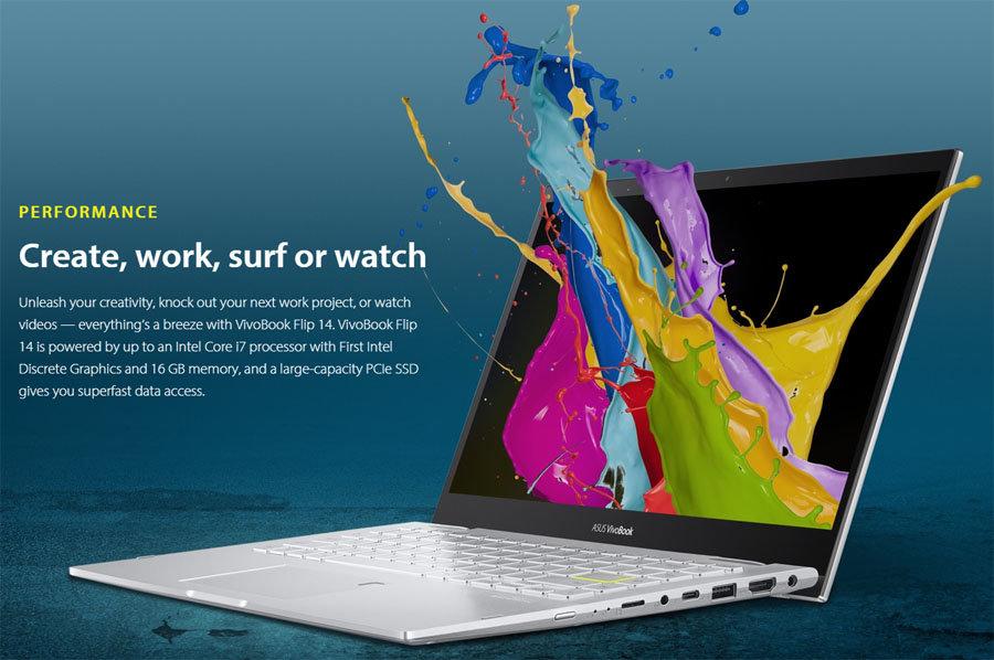 华硕 VivoBook Flip 14 上架:采用 Iris Xe Max 独显 - 热点资讯 电器拆机百科 第1张
