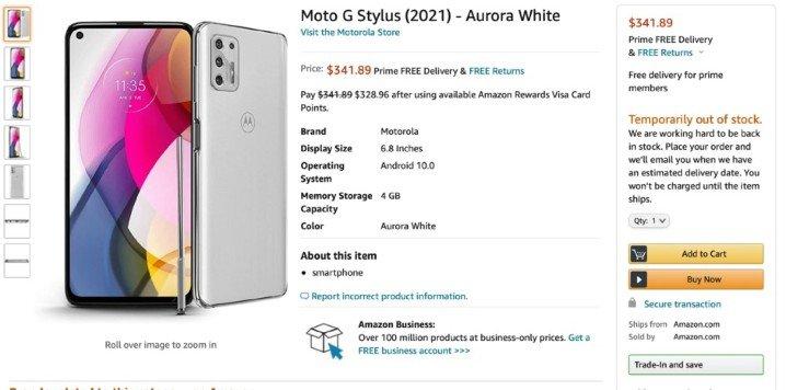 摩托罗拉G Stylus 2021渲染图曝光,将配备手写笔 - 热点资讯 值得买吗 第3张