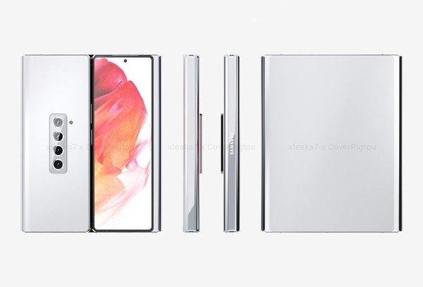 三星Galaxy Z Fold3新渲染图曝光:双折叠设计 - 热点资讯 每日推荐 第1张