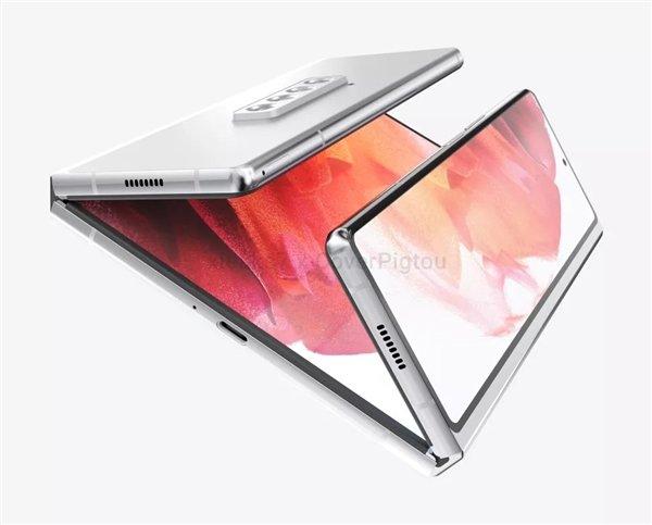 三星Galaxy Z Fold3新渲染图曝光:双折叠设计 - 热点资讯 每日推荐 第2张